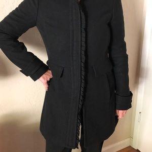 Ladies black pea coat